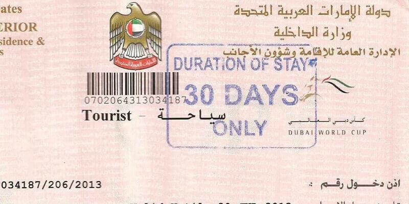 Dubai Visit Visa Tourist Visa Application 2020